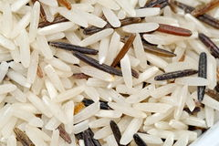 White and brown rice Stock Photo