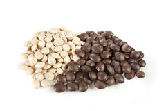 Sacha-Inchi peanut. White and brown seeds called sacha-Inchi Stock Photo