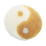 White and Brown Sugar in the Form of Yin Yang Royalty Free Stock Images