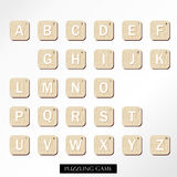 White brown uppercase font royalty free illustration