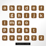 White brown uppercase font Royalty Free Stock Photography