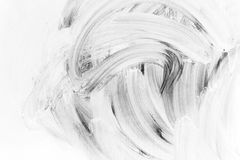 White brush strokes paint pattern Stock Photography