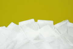 White brush strokes texture on yellow wall Royalty Free Stock Photos