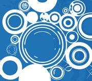 White bubbles. With blue background Royalty Free Stock Photos