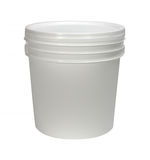 White bucket Stock Photos