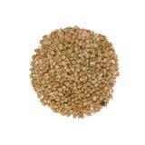 White buckwheat. Isolated on white background Stock Images