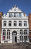 White Buddenbrookhaus house in the center of Lubeck. Germany Royalty Free Stock Photos