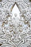 White Buddha art in temple. White Buddha art in the White Buddha temple , Asia , Thailand royalty free stock photo