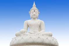 White buddha Royalty Free Stock Photos