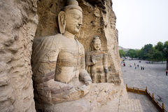 White buddha cave of Yungang grottoes Royalty Free Stock Photography