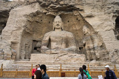 White buddha cave of Yungang grottoes Stock Image