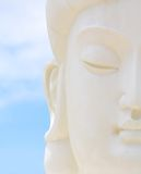 White  buddha face Royalty Free Stock Photos