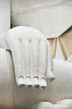 White Buddha hand. God's massive white at Thailand Stock Image