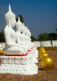 White Buddha image Stock Photography