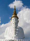White Buddha image Royalty Free Stock Photos