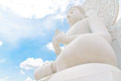 The White buddha image. royalty free stock photography