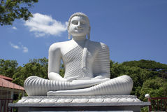 White Buddha In Polonnaruwa Royalty Free Stock Images