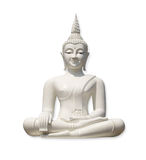 White Buddha (isolated) Stock Photos