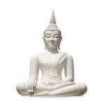 White Buddha (isolated) Stock Photos