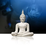 White Buddha, isolated (incl. clipping path) Royalty Free Stock Photo