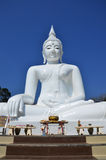 White Buddha at Kanchanaburi Thailand Royalty Free Stock Image