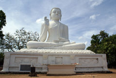 White Buddha in Mihintale Royalty Free Stock Photography