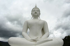 The White Buddha in northern thailand. The White Buddha temple in northern thailand stock image