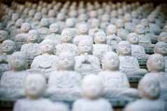 White Buddha Ornaments Royalty Free Stock Photography