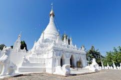 White buddha pagoda temple in Wat Pra Tard Doi Kong Mu temple wi Stock Photo
