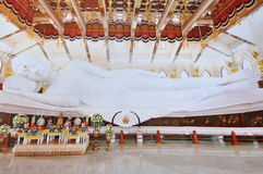 The white buddha. The white reclining buddha in Thailand Stock Image
