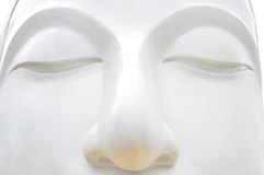 White Buddha 's face close up Stock Photography