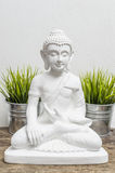 White buddha sculpture Royalty Free Stock Photography