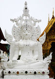 White Buddha sculpture thai Royalty Free Stock Images