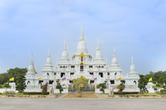 White buddha shine in temple Thailand Stock Photo