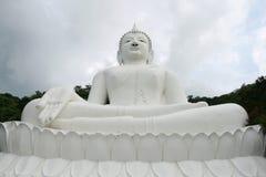 White Buddha Statue. Large white buddha statue, Thailand Royalty Free Stock Image