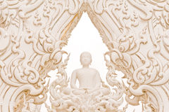 White Buddha Statue. Stock Photography