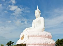 White Buddha statue Royalty Free Stock Image