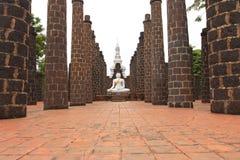 The white Buddha statue Stock Photography