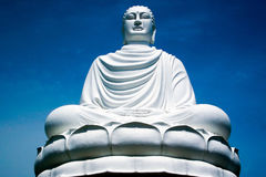White buddha statue royalty free stock photo