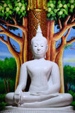 White Buddha statue in ancient temple. White Buddha Statue in temple royalty free stock images