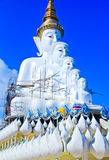 The white Buddha statue. On blue sky in temple at Pechaboon Province,Thailand Royalty Free Stock Photos