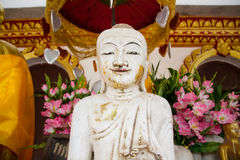 White Buddha Statue at Bodhgaya Stupa or Phuthakaya Pagoda at Sa Royalty Free Stock Photography