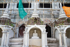 White Buddha Statue in Bodhgaya Stupa or Phuthakaya Pagoda at Sa Stock Images