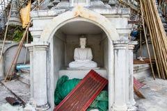 White Buddha Statue in Bodhgaya Stupa or Phuthakaya Pagoda at Sa Stock Photo