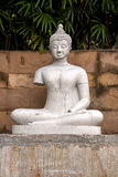 White buddha statue. The center of faith of Buddhist Stock Images