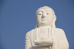 White Buddha statue Stock Photography