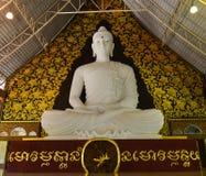 White Buddha statue Royalty Free Stock Images