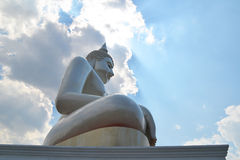 White Buddha statue outdoor Stock Photography
