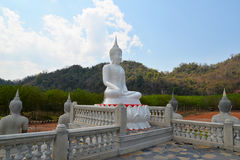 White Buddha statue outdoor Royalty Free Stock Images