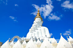 White Buddha Statue at Phasornkaew Temple Royalty Free Stock Photo